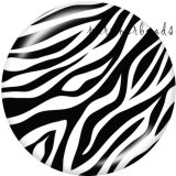 20MM   pattern  Leopard  Print   glass  snaps buttons