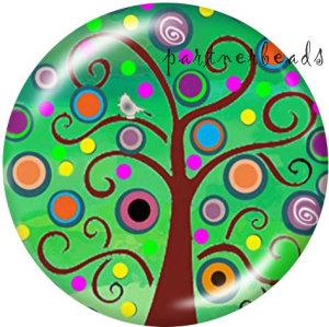 20MM Baum des Lebens Drucken Sie die Druckknöpfe aus Glas