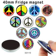10 шт. / Лот, стеклянные изображения с антивоенным флагом, продукты для печати различных размеров, магнит на холодильник, кабошон
