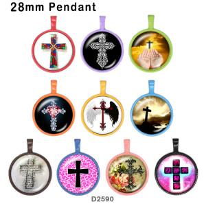 10 Stück / Los Kreuzglas-Bilddruckprodukte in verschiedenen Größen Kühlschrankmagnet Cabochon