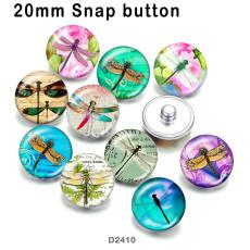 10 Stück / Los Libelle Glas Bilddruckprodukte in verschiedenen Größen Kühlschrank Magnet Cabochon