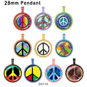 10 Stück / Los Antikriegsflagge Glasbilddruckprodukte in verschiedenen Größen Kühlschrankmagnet Cabochon