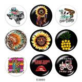 20MM  Dreamcatcher  Print   glass  snaps buttons