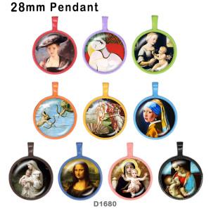 10 Stück / Los Mutter Glas Bilddruckprodukte in verschiedenen Größen Kühlschrank Magnet Cabochon