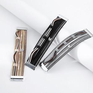 Ethnische Wicklung Pfeil Zubehör mehrschichtig PU-Magnetverschluss Armband
