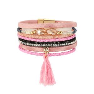 Mehrschichtige Kristall Quaste Magnet Armreif Armband Mode Einfacher Schmuck Persönlichkeit Armband