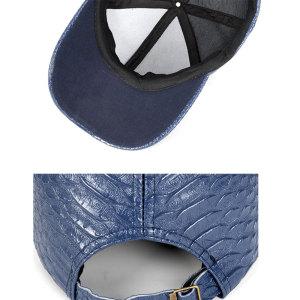 Шляпа из искусственной кожи с крокодиловым узором, шапка для папы на кнопке 18 мм, бежевый