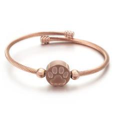 Stainless steel cat claw bracelet adjustable ladies bracelet