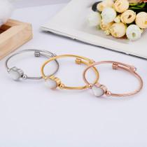 Bracelet coquillage en acier inoxydable Bracelet tressé en fil d'acier