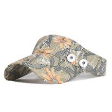 夏の野球帽プリントアウトドアスポーツレディースフィット18mmスナップボタンベージュ