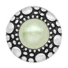 Los encantos a presión chapados en plata del metal de la perla de los 20MM encajan la joyería