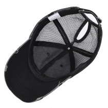 Distressed Pferdeschwanz Baseballkappe Sommer Sonnenschutz passen 18mm Druckknopf beige