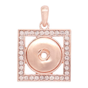 snap rose gold  Pendant  fit 20MM snaps style jewelry