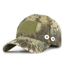 Camouflage Army Outdoor Python Muster Baseballkappe Sommer Sonnenschutz passen 18mm Druckknopf beige