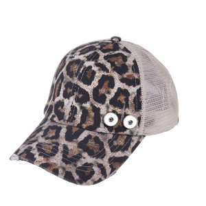 Gorra de béisbol con cola de caballo desgastada, protector solar de verano, ajuste con botón a presión de 18 mm, beige