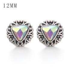 Kopieren Sie 1 Stück 12MM Design Metall versilbert Snap Charms Multicolor