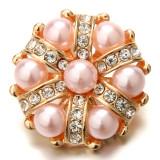 20MM métal plaqué or rose breloques pression snaps bijoux