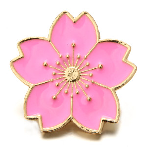 20MM Metall Rose vergoldet Snap Charms Snaps Schmuck