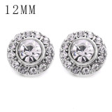 1pcs 12MM  design metal silver plated snap charms Multicolor