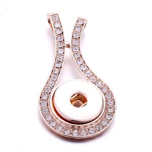 Broche de oro rosa Colgante apto para joyas de estilo broches de 20 mm