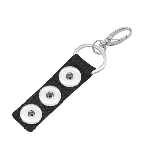 Pu Leater Fashion Keychain s fit 18MM broches de presión Joyas de broches