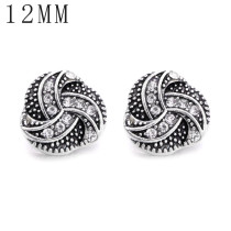 1pcs 12MM Design Metall versilbert Snap Charms Multicolor