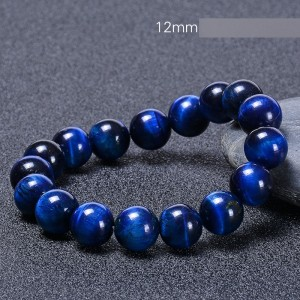12MM Natural Blue Tiger Eye Armband Eagle Eye Cat Eye Armband