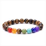 Lava volcanic stone chakra bracelet Colorful Seven Chakra Yoga Energy Beaded Bracelet