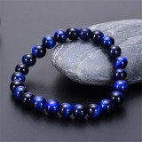 Bracelet oeil de tigre bleu naturel 6 mm Bracelet oeil de chat oeil d'aigle