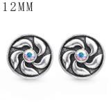 1pcs 12MM Design Metall versilbert Snap Charms Multicolor