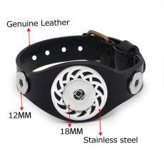 Broche de cuero Accesorios de acero inoxidable Las pulseras encajan en trozos de broche de presión de 12 y 20 mm 1 botón
