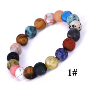 Les huit bracelets de planète de pierre du système solaire Bracelets d'étoile d'exploration de galaxie de l'univers