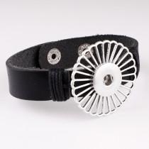 Echtes Leder 1 Knöpfe Leder neuer Typ Zubehör Armband passend für 20mm Druckknöpfe