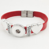 Genuine Leather Love 1 buttons leather new type Accessories  Bracelet fit 20mm snaps chunks