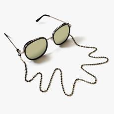 Maske Kette Metallkette hängenden Hals hängende Kette Karabinerverschluss Brille Kette Auge Seil Retro Perle Kette Brille Seil