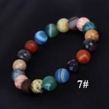 太陽系のXNUMXつの石の惑星のブレスレット宇宙銀河探査星のブレスレット
