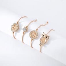 Kupfer Armband weiblich verstellbar Palm Star Owl Licht Luxus Schmuck Armband