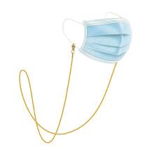 Edelstahl Vakuumbeschichtung 24 Karat Gold farbschonende Brille Seilmaske Kette Brille Kette Sonnenbrille hängende Kette (Schlangenkette)