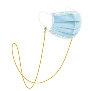 Вакуумное покрытие из нержавеющей стали, золото 24k, сохраняющее цвет, очки, веревка, маска, цепочка, очки, цепочка, солнцезащитные очки, подвесная цепочка (змеиная цепочка)
