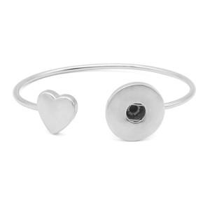 Медный браслет 1 пуговица на кнопках серебряный браслет подходит для украшений на кнопках