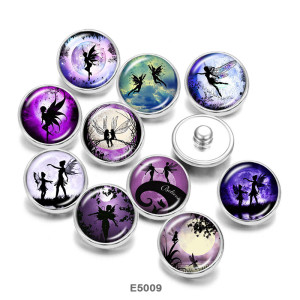 Стеклянные кнопки с принтом Эльфов 20 мм
