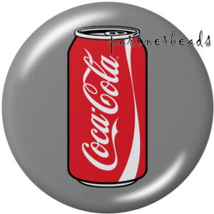 Стеклянные кнопки с принтом Coca Cola 20 мм