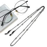 Dicke vergoldete Zirkon Metall Brille Kette Lanyard personalisierte Brille Seil Lanyard Brille Zubehör (15 weiße Diamanten)
