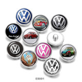 20MM  Car sign   Print   glass  snaps buttons