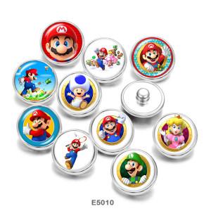 20MM Мультяшный игровой персонаж с принтом, стеклянные кнопки с кнопками