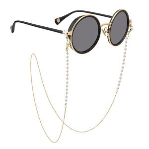 Жемчуг очки цепи маска шнурок толстое позолота глазурь очки веревка шнурок