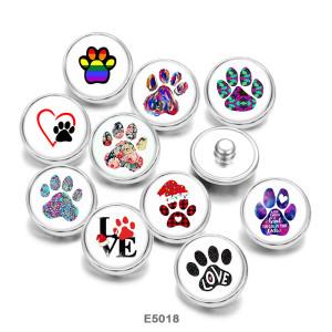 Стеклянные кнопки с принтом в виде собаки 20 мм