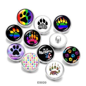 20 мм собака узор пантеры принт стеклянные кнопки кнопки