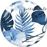 20MM Pattern Flower Print Glasschnappknöpfe
