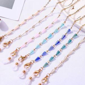 70CM Maskenaufhängekette, Brillenaufhängekette, Kristallglaskette, Kristallmaskenkette, Brillenkette